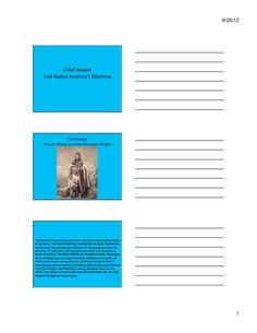 Chief Joseph and the Trials of Native Americans (Content Presentation) Chief Joseph, Gilded Age, Native Americans, Trials, American History, Presentation, Commercial, Content, Us History
