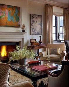 Art-filled living room