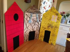 3 little pigs houses
