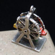 Ferris Wheel Charm Vintage Sterling Silver Spins   eBay
