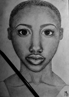 Drawing African woman, face, draw, art