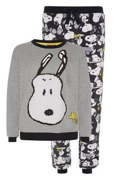 Grey Snoopy Sherpa PJ Twosie