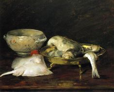 William Merrit Chase / Still Life with Fish