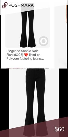 """NWT L'AGENCE Sophie High Rise Flare tall, black Super trendy and elegant jeans by L'AGENCE. This is my favorite brand of jeans. They maintain their shape, super figure flattering and oh so comfy. •••11"""" front rise 13"""" back rise • zip fly • made in the USA 🇺🇸 I bought two pairs for me and had one hemmed into crop style !!! L'AGENCE Pants Boot Cut & Flare"""