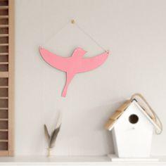 Image of Pink Flying Bird Wall Decoration Walls, Wall Decor, Bird, Christmas Ornaments, Cool Stuff, Decoration, Holiday Decor, Image, Home Decor