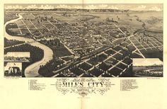 24x36 Bismarck North Dakota 1883 Historic Panoramic Town Map