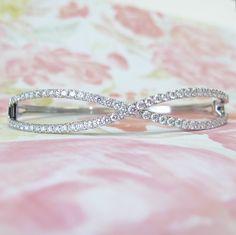 Diamond Twist Bangle Bracelet