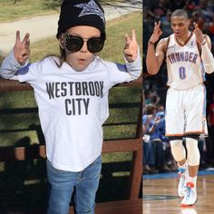 OKC Thunder Russell Westbrook Inspired kids t-shirt