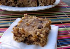 Skinny Banana Coconut Chocolate chip Squares...I wouldn't call these skinny, but they look yummy