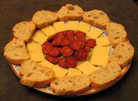 Jamón, Queso, y Chorizo con Pan: A Yummy Ham, Cheese, and Chorizo Tapa