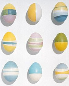 For thousands of years, Ukrainians have created elaborately patterned eggs called pysanky using a wax-resist process. Wax is applied to an egg, which is then dipped in colored dyes. When completed, the wax is melted off, revealing all the colors beneath. Cool Easter Eggs, Easter Egg Dye, Hoppy Easter, Egg Crafts, Easter Crafts For Kids, Easter Ideas, Easter Decor, Easter Egg Designs, Martha Stewart
