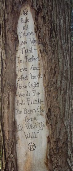 Words every Witch, Wiccan, & Pagan must remember not just with their heads but with their hearts & souls
