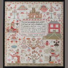 A 19th century brightly worked sampler