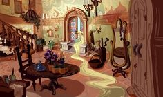 Rapunzel Painting | Mural artwork by Claire Keane highlights Rapunzel's desire to ...