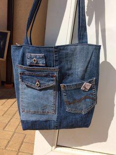 Džínová s kapsami Jean Crafts, Denim Crafts, Recycled Fashion, Recycled Denim, Denim Purse, Denim Jeans, Moda Jeans, Only Jeans, Girls Jeans