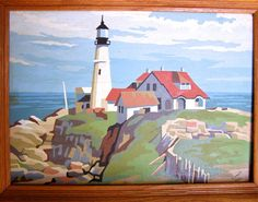 Vintage Paint By Number PBN Ocean Nautical by FunkAndMore on Etsy, $32.00