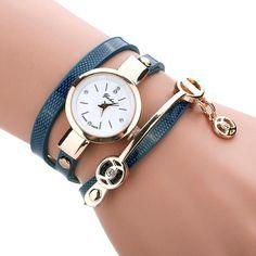 New Luxury Bracelet Watch Women Casual Quartz Watch PU Leather Ladies Dress Watches Metal Strap Watch