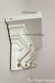 ¿Qué se necesita para construir un estante de la pared con ganchos