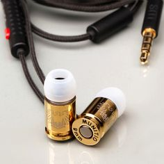 Sleek Bullet-Shaped Earbuds. I wonder if you could get through security with these.