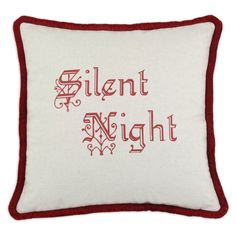 D'Kei Silent Night Pillow with Red Brush   from hayneedle.com