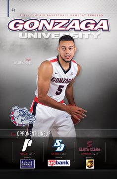 Colleges That Offer Basketball Scholarships San Diego Basketball, Men's Basketball, Gonzaga Basketball, Gonzaga University, Basketball Game Tickets, Team Player, Santa Clara, My Youth, 7 Year Olds