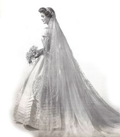 Jacqueline Bouvier Kennedy poses in one of a series of photos, taken for her wedding to John F. Kennedy in 1953.