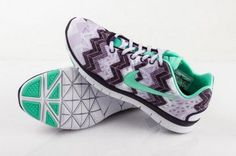 Nike Free TR Fit 3 Print Green/Black/White Womens Shoes