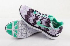 Nike Free TR Fit 3 Print Green/Black/White