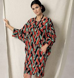 New from Rachel Comey for Vogue Patterns. Sew V1482, Misses' Batwing/Dolman-Sleeve Dress