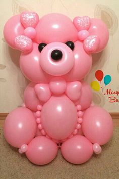 Ours rose Baby Shower Balloon Decorations, Baby Shower Balloons, Baby Shower Favors, Baby Shower Gifts, Ballon Animals, Christmas Balloons, Balloon Crafts, Diwali Craft, Balloon Arrangements