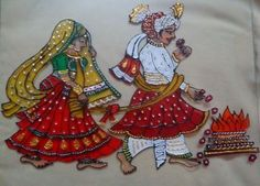 ideas wedding gifts ideas for bride and groom in india for 2019 3d Art Painting, Phad Painting, Glass Painting Designs, Mirror Painting, Wall Art Designs, Paint Designs, Fabric Painting, Wedding Symbols, Kalamkari Designs