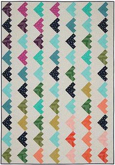 We have 11 exclusive Cotton+ Steel kits on the Keepsake Quilting website!  The Friendship Knot Throw Kit!