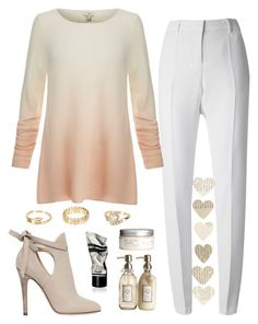 """""""She also has a few cashmere sweaters..."""" by chase-stars ❤ liked on Polyvore featuring Barbara Bui, Joie, Jimmy Choo, Pier 1 Imports, H&M, River Island and Aesop"""