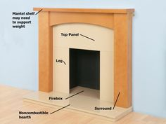 How To Install A Marble Hearth And Wooden Fireplace Surround