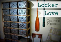 Vintage Lockers found at Auction by Crafted Niche. What a find!