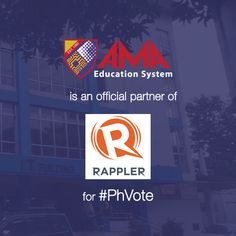 AMA Education System is an official partner of Rappler for #PhVote! All students and alumni of AMA University, AMA College, ABE College, ACLC, ACLC College and St. Augustine School of Nursing are encouraged to join Rappler's online movement for clean and honest election. Go to http://phvote.rappler.com/ now to join the movement! Simply register using your Facebook or Twitter account! #AMAVotePh #TheLeaderIWant #ProudAMAer #ForeverABEnian #ACLCRocks #WeLoveSASN