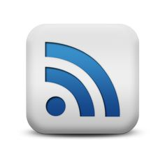 RSS Icon from the Matte Blue And White Square Icons Collection