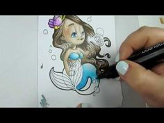 Chameleon Hair and Skin with Speed Coloring- Great little demo using the Chameleon Colour Tone Pens!