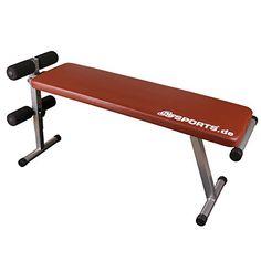 cool ScSPORTS 1150015 - Banco de ejercicios plegable, color rojo