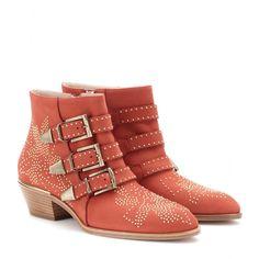 Chloé - Susanna studded suede buckle ankle boots - mytheresa.com GmbH