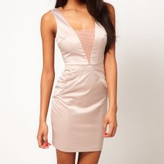 Pencil Dress - Champagne Color