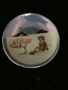 3 Inch hand painted bowl from Japan #2969