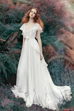 alena goretskaya wedding dress 2013 viloria flutter sleeves