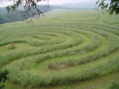 Labyrinth lovethe mowed effect, its so gentle, wild flowers in the grass would be perfect