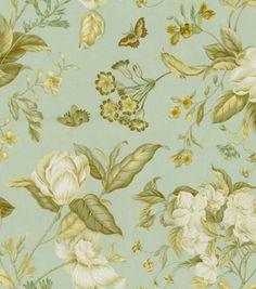 Home Decor Print Fabric-Waverly Garden Images Ii Glacier