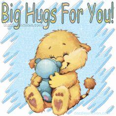 Love & hug Quotes : Hugs Hug Picture Image Graphic - Quotes Sayings Hugs And Kisses Quotes, Hug Quotes, Kissing Quotes, Snoopy Quotes, Big Hugs For You, Sending You A Hug, Hug You, Gifs, Hug Day Images