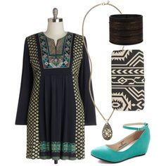 Aztec-inspired plus size style.