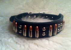 Bullet dog collar  MADE TO ORDER by TheStripedPony on Etsy, $68.00