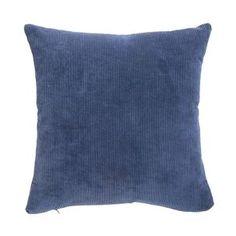 Kissenhülle Cord, B:45cm x L:45cm, blau Throw Pillows, Inspiration, Cord, Living Room, Blue, Toss Pillows, Cushions, Biblical Inspiration, Decor Pillows