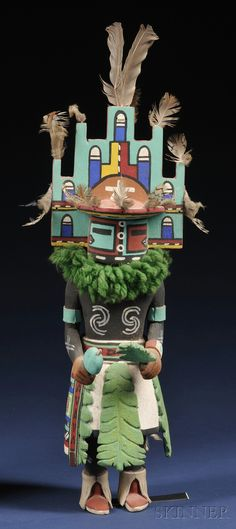 Southwest Polychrome Carved Wood Kachina | Sale Number 2563B, Lot Number 416 | Skinner Auctioneers
